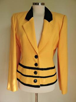1980s Yellow Mansfield Jacket with Padded Shoulders