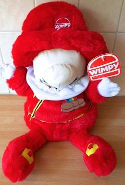 1980s Mr. Wimpy soft toy