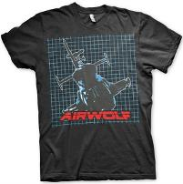 Airwolf 80s Movie T-shirt Men's Black