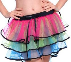 Neon 80s Layered Petticoat Skirt