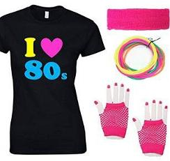 I Heart the 80s Fancy Dress Set for Ladies