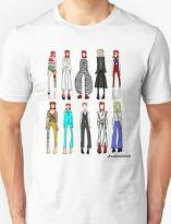 The Stages of Bowie Unisex T-shirt by Redbubble