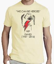 We Can Be Heroes David Bowie Tribute T Shirt