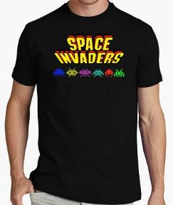 Classic Space Invaders Logo T-shirt for Adults