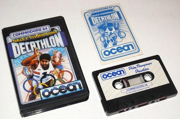 Daley Thompson's Decathlon - Commodore 64 - cassette with case and inlay card