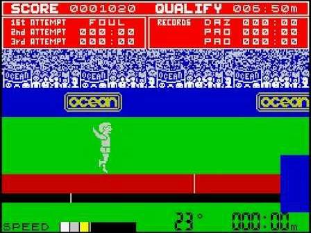 Daley Thompson's Decathlon ZX Spectrum screenshot