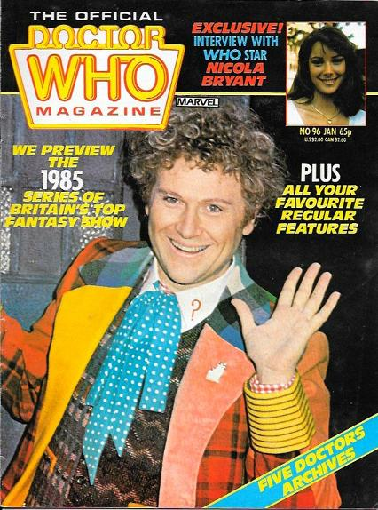 The Official Doctor Who Magazine Jan 1985 ft. Colin Baker
