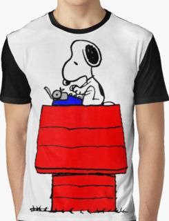 Snoopy typing on his kennel Baseball T-shirt