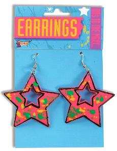 80s Paint Splatter Star Earrings