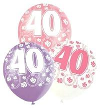 40th Birthday Party Balloons