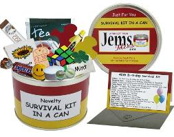 40th Birthday Survival Kit in a Can