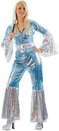 Women's Silver and Blue Abba Waterloo Costume