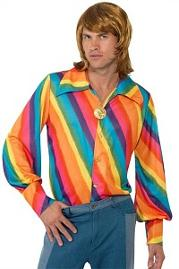1970s Rainbow Shirt for Men