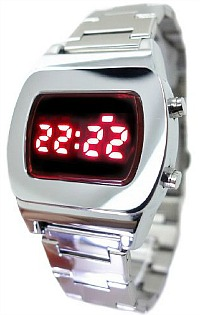 70s Style LED Watch - red display