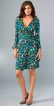 Original Painted Leopard Wrap Dress
