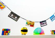 80s Cassette Tape Party Bunting