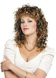 80s Curly Perm Wig for Ladies