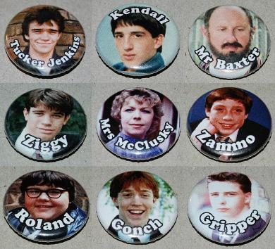 80s Grange Hill Characters - Button Badges