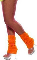 Orange Neon Legwarmers