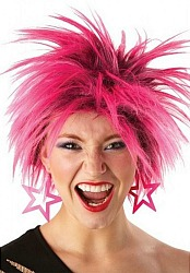 80s Pink Punk Wig for Women