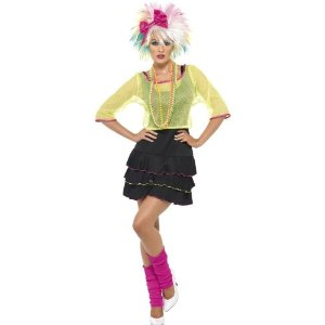 80s pop star fancy dress costume for women