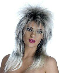80s Rock Metal Band Long Wig for Ladies