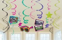 Totally 80s Twirl Decorations Pack