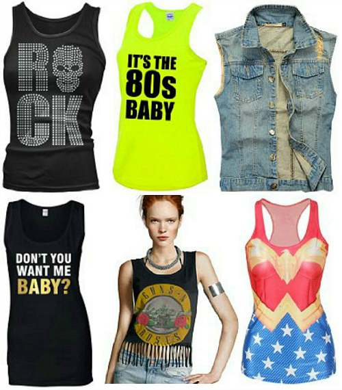 80s Vest Tops and Tank Tops montage
