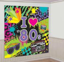 80s Themed Wall Decoration
