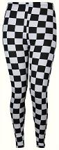 2 tone check-patterned 80s leggings