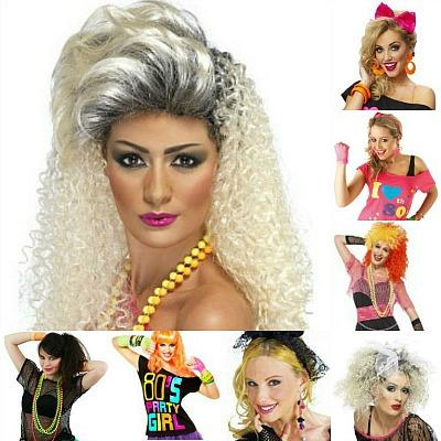 80s Fancy Dress Collage