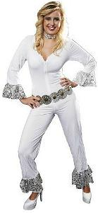 70s Fancy Dress - White Abba Disco Costume