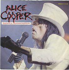 Alice Cooper - Teenage Frankenstein Vinyl Single Sleeve (Front Cover)