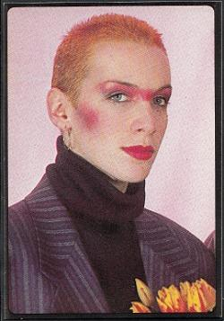 Annie Lennox Panini sticker from Smash Hits 1984