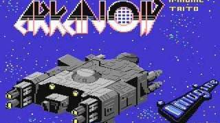 C64 Arkanoid title screen