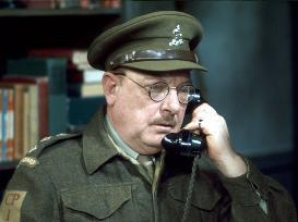 Arthur Lowe as Captain Mainwaring in Dad's Army