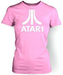 Pink Atari Logo Retro T-shirt for Women