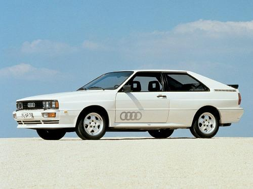 Gorgeous white Audi Quattro from the 1980s