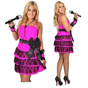 80s Fancy Dress Costume for Ladies