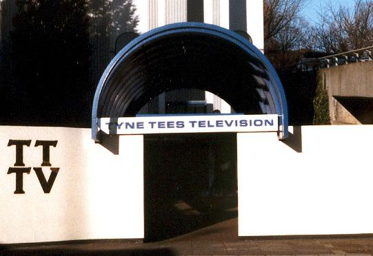Entrance to Tyne Tees Television studios in City Road, Newcastle (1980s)