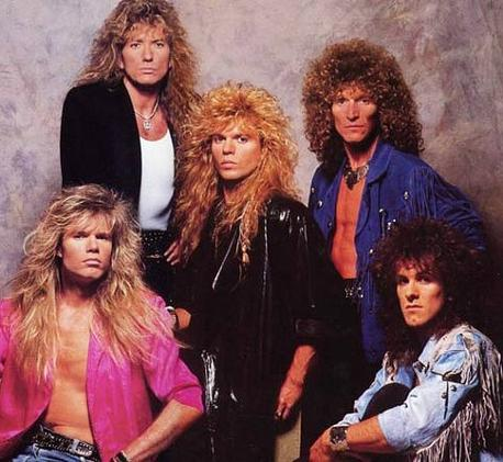 Whitesnake and their colossal lion's mane hairstyles!