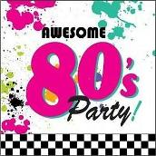 Awesome 80's Party Napkins ft. splatter paint and Two Tone design