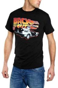 Back to the Future logo and DeLorean T-shirt for Adults