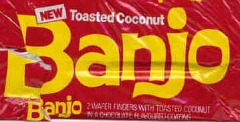 Banjo toasted coconut chocolate bar