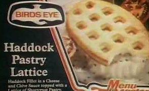 80s Food - Birds Eye Haddock Pastry Lattice