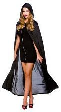 Black Vampire Gothic Cape with Hood