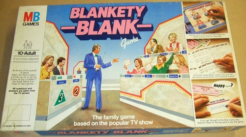 Blankety Blank board game by MB Games (1983)