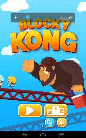 Blocky Kong title screen