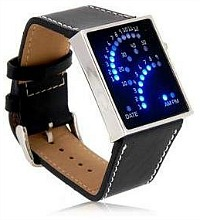 Blue Lights Display LED Watch