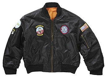 MA1 Top Gun Bomber Aviator Jacket - Reversible with six sewn on badges